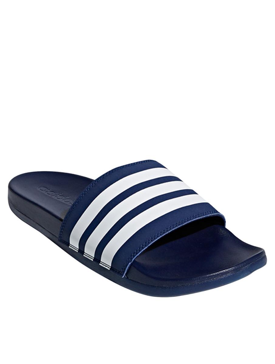 9f5952e215536e ADIDAS Men s Sandals Adilette Cloudfoam Plus Stripes Slides Navy Size 9