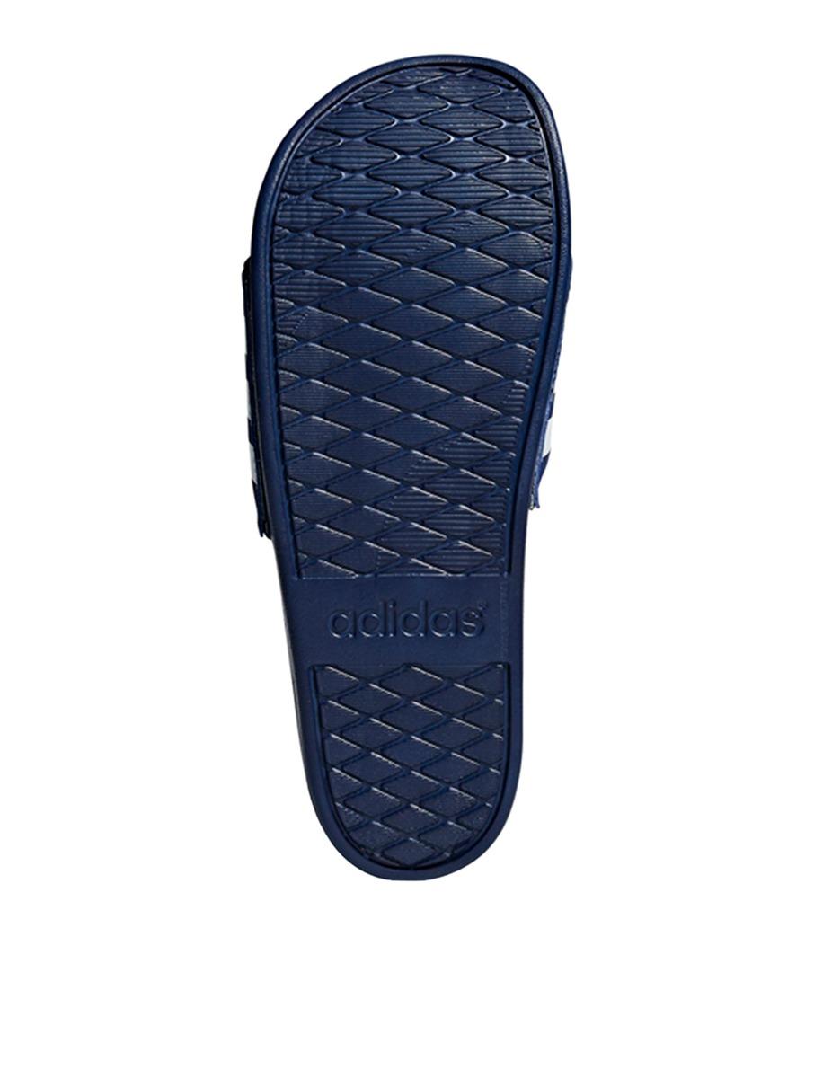 more photos 2285c c0375 ADIDAS Mens Sandals Adilette Cloudfoam Plus Stripes Slides Navy Size 8