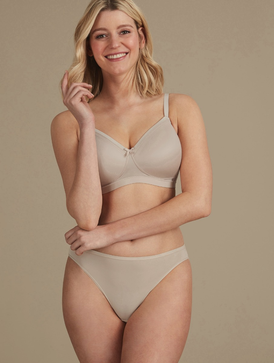 aa7a0538b Sumptuously Soft Full Cup T-Shirt Bra AA-E Almond Size 32B