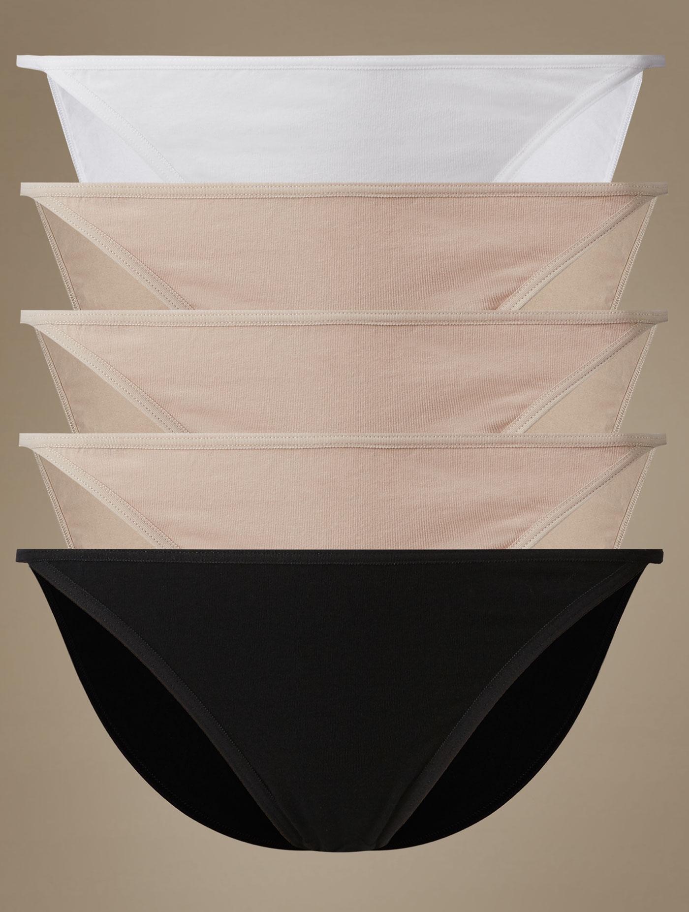 5 Pack Cotton Rich Garter Assorted Bikini Knickers T614939 Size 18 Alomnd  Mix Alomnd Mix Size b5646db5a