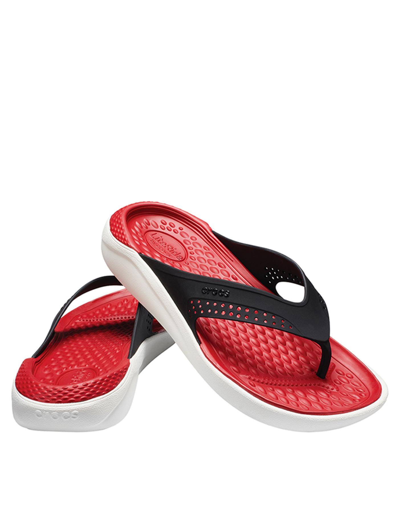 183698e61de918 CROCS Unisex  Sandal Literide Flip Red-White Size M9 W11 Red-White